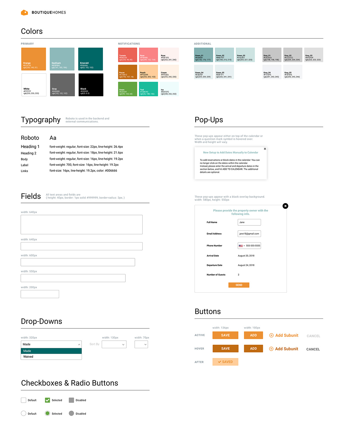 Style Guide UI