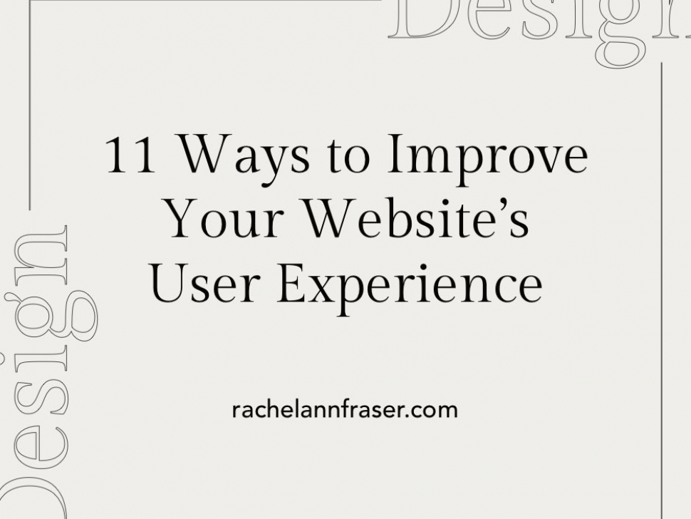 Improve Your Website's User Experience