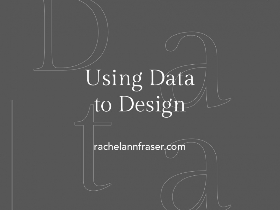 Tired of relying on your gut feeling to make design decisions? Consider using data to design better user experiences. Learn more about data in design here.
