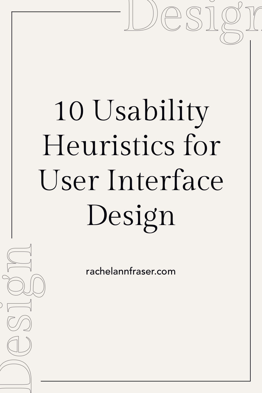 10 Usability Heuristics for User Interface Design