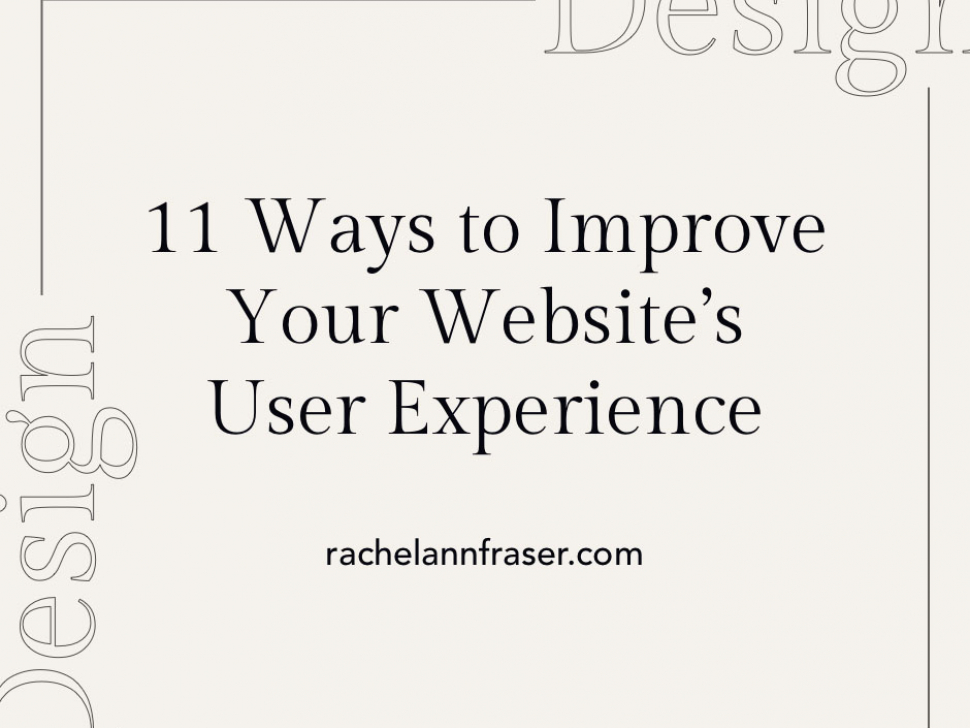 Improve Your Website's UX