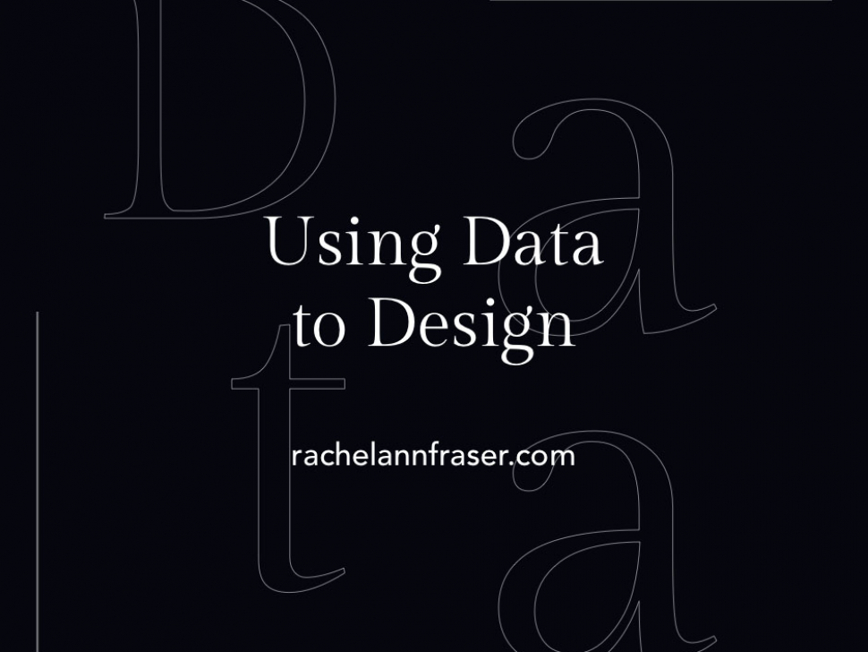 Data in Design